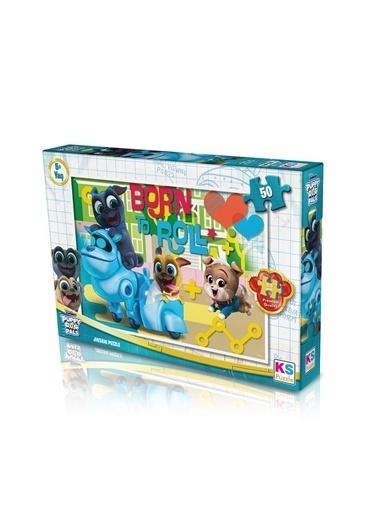 KS Puzzle KS Puzzle POP709 Puppy Dog Pals Temalı 50 ParÇa Çocuk Puzzle Renkli
